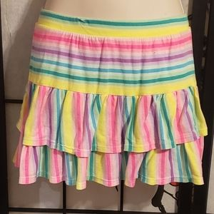 Rainbow striped skort size 14